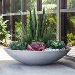 Planters Unlimited - Modern Low Bowl Fiberglass Planters