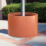 Planters Unlimited - Modern Round Post Fiberglass Planters
