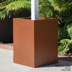 Planters Unlimited - Modern Square Post Fiberglass Planters