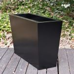 Planters Unlimited - Modern Tapered Rectangular Fiberglass Planters