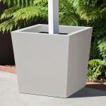 Planters Unlimited - Modern Tapered Square Post Fiberglass Planters