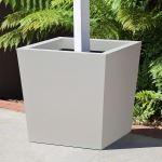 Planters Unlimited - Modern Tapered Square Post Fiberglass Planters