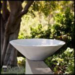 Planters Unlimited - Nepal Weathered Stone Low Bowl Planters