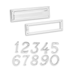 Ives Door Accessory Hardware - Door Mail Slots and Numbers