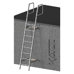 FIXFAST USA - RL21 Angled Fixed Ladder with Angled Handrails