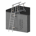 FIXFAST USA - RL23 Angled Fixed Ladder With Lead On Handrails