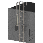 FIXFAST USA - RL41 Caged Access Ladder With Grabrails