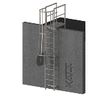 FIXFAST USA - RL42 Caged Access Ladder With Parapet Mount