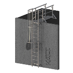 FIXFAST USA - RL43 Caged Access Ladder With Lead On Handrails