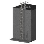 FIXFAST USA - RL53 Fall Arrest Access Ladder With Lead On Handrails