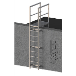 FIXFAST USA - RL32 Standard Access Ladder With Parapet Mount