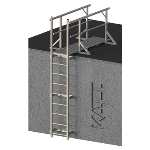 FIXFAST USA - RL33 Standard Access Ladder With Lead On Handrails