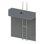 FIXFAST USA - RL34 Standard Fixed Ladder With Retractable Stiles