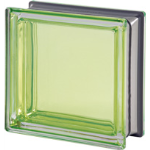 Seves Glass Block Inc. - Mendini Collection Berillo Q19 Smooth Metallised Glass Block
