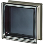 Seves Glass Block Inc. - Mendini Collection Black 30% Q19 Smooth Metallised Glass Block