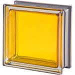 Seves Glass Block Inc. - Mendini Collection Topazio Q19 Smooth Metallised Glass Block