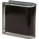 Seves Glass Block Inc. - New Colour Collection Nero Linear Terminal O Met Glass Block