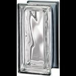 Seves Glass Block Inc. - Pegasus Metallizzato Clear R09 Wavy Metallised Glass Block