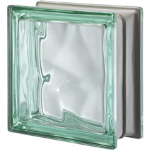 Seves Glass Block Inc. - Pegasus Metallizzato Green Q19 Wavy Metallised Glass Block