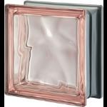 Seves Glass Block Inc. - Pegasus Metallizzato Pink Q19 Wavy Metallised Glass Block