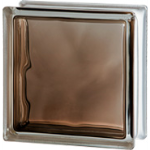 Seves Glass Block Inc. - Brilly Bronze 1919/8 Wave Glass Block