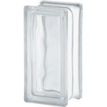Seves Glassblock - Clear 1909/8 Wave Glass Block