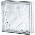 Seves Glassblock - 2424/8 Wave - Sound Proofing Glass Block