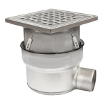 BLÜCHER - BFD-230-SO - Adjustable Floor Drain with 12in. x 12in. Square Top, Side Outlet