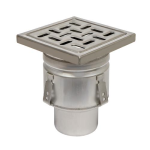 BLÜCHER - BFD-320 - Sanitary Floor Drain with 8in. x 8in. Square Top, Bottom Outlet