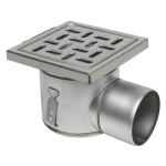 BLÜCHER - BFD-320-SO - Sanitary Floor Drain with 8in. x 8in. Square Top, Side Outlet