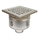 BLÜCHER - BFD-340 - Sanitary Floor Drain with 12in. x 12in. Square Top, Bottom Outlet