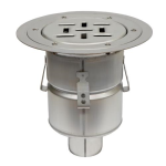 BLÜCHER - BFD-510 - Floor Drain with 8in. Round Top, with Surface Membrane Clamp (For Rubberized Flooring)