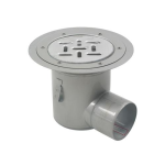 BLÜCHER - BFD-510-SO - Floor Drain with 8in. Round Top, with Surface Membrane Clamp