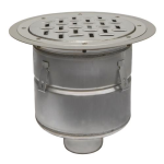 BLÜCHER - BFD-530 - Floor Drain with 12in. Round Top, with Surface Membrane Clamp