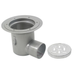 BLÜCHER - BFD-530-SO - Floor Drain with 12in. Round Top, with Surface Membrane Clamp