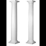 Worthington Millwork - Round Tapered Fiberglass Columns