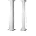 Worthington Millwork - Round Paint Grade Architectural Wood Columns