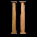 Worthington Millwork - Round Stain Grade Wood Columns