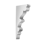 """Worthington Millwork - 17 3/4""""H x 2 5/8""""W x 8""""P Decorative Bracket"""