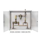 Symmons Industries, Inc. - Symmons TempControl® Hi-Low Thermostatic Mixing Valve and Piping System in Cabinet - 7-900B-102-PRV