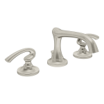 Symmons Industries, Inc. - Design Studio™ Creations (formerly Ballina®) Two Handle Widespread Lavatory Faucet - SLW-5212-STN-1.