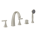 Symmons Industries, Inc. - Design Studio™ Creations (formerly Lucetta®) Two Handle Roman Tub Faucet - SRT-4672-STN