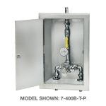 Symmons Industries, Inc. - TempControl® Thermostatic Mixing Valve and Piping Assembly in Cabinet with Cold Water By-pass - 7-10