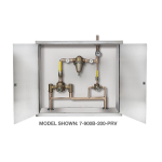 Symmons Industries, Inc. - TempControl® Hi-Low Thermostatic Mixing Valve and Piping System in Cabinet - 7-400B-102-PRV