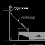 Metal-Era, Inc. - Anchor-Tite Paver Termination Bar Anchor-Tite Ballast Paver Version