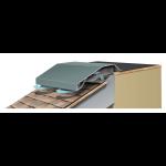 Metal-Era, Inc. - Hi-Perf Ridge Vent Sloped Roof Meets Flat Roof Version