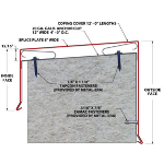 "Metal-Era, Inc. - Perma-Tite Coping Existing Slope without Nailer, Over 6"" to 12"""