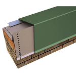 "Metal-Era, Inc. - Perma-Tite Coping Over 6"" to 12"" Face Height, Masonry Attached Tapered Version"