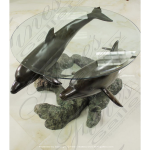 Fine's Gallery - Dolphins Coffee Table - BT-153
