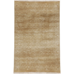 Fine's Gallery - Cream and Tan Designer Rug - RA022